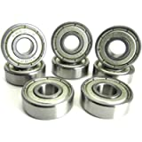 TRB RC 8x22x7mm ABEC 3 Precision Skate Ball Bearings Metal Shields (8)
