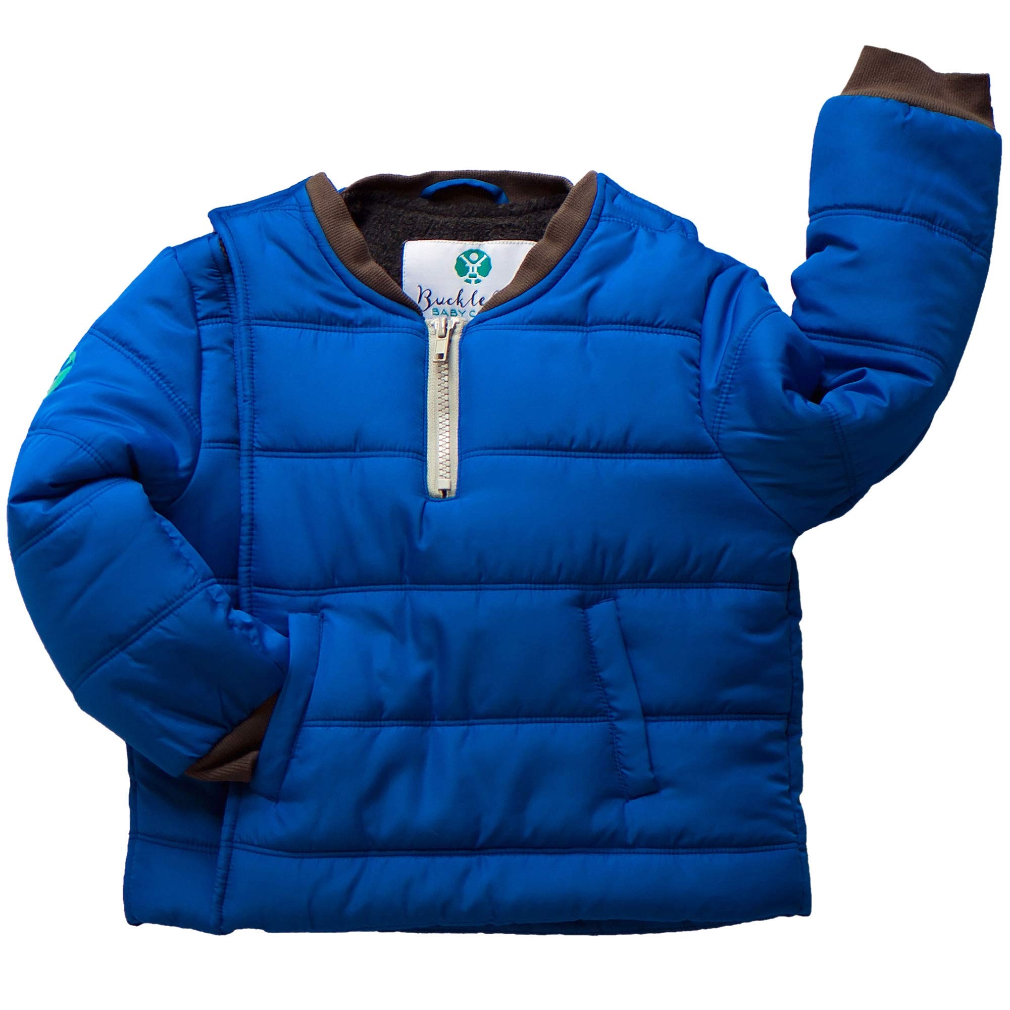 Buckle Me Baby Coat - Safer Car Seat Boys Winter Jacket - Deepest of Oceans Blue - Size 3T by Buckle Me Baby Coats