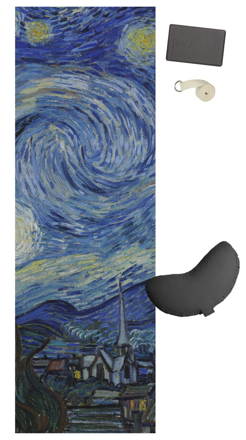 amazon com the starry night van gogh 1889 yoga mat sports