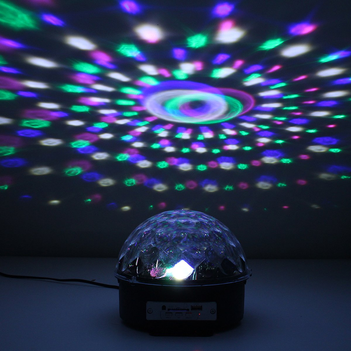 Lighting Mode Voice-Sound-Activated (Music) Automatic lighting and MP3 feature  sc 1 st  KINGSO & KINGSO Color Changes Crystal Magic Ball RGB Mp3 Sound Actived With ... azcodes.com