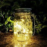 Mason Jar Sun Tarro Cristal, AGPTEK Lámpara LED