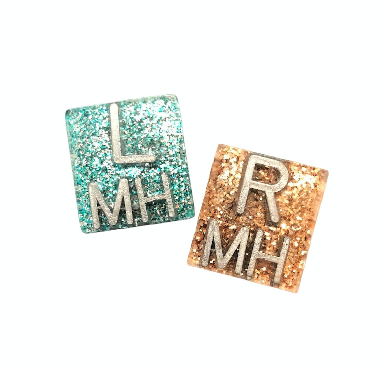 Small Square Xray Markers Glitter
