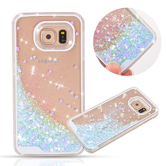 best service 3b296 b1280 Rejected all traditions 3D Bling Dynamic Flowing Liquid Glitter Water  Sparkly Quicksand Love Heart Case Cover Dirt-Resistant for Samsung Galaxy  S7 ...