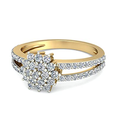 0e1c86f93 Buy PC Jeweller The Calix Split Shank 18KT Yellow Gold & Diamond ...