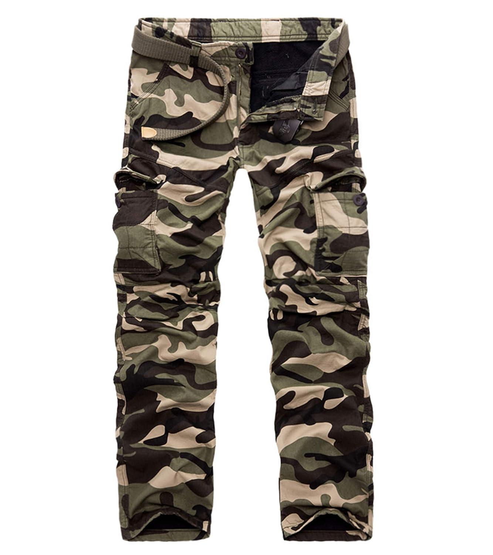 c3b2b67a4d9f4 WANOTO Mens Winter Fleece Lined Trousers Cargo Camo Trousers Thermal Work  Wear: Amazon.co.uk: Clothing