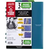 Five Star Pocket Dividers, Tabbed, Fits 3 Ring Binder, Colors Will Vary, 3 Pack (81212)