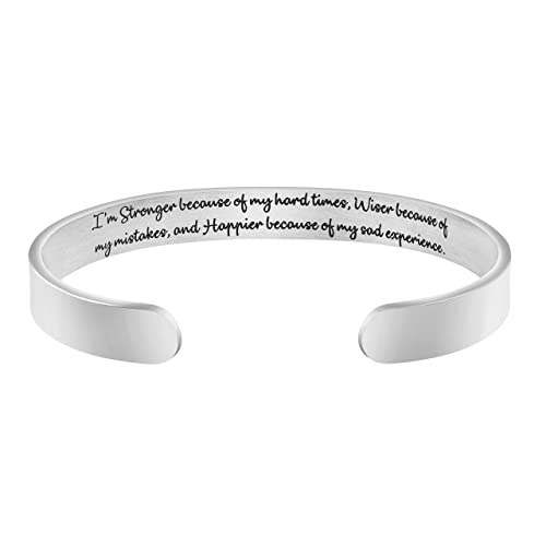 Image Unavailable. Image not available for. Color  Awegift Inspirational  Gifts Women Silver Cuff Bracelet ... 3ccce40259