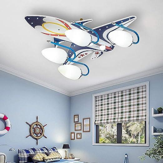 grgr chambre d enfants plafonnier led dessin anime eclairage au plafond bois personnalite creative avion lustre garcon chambre maternelle chambre de