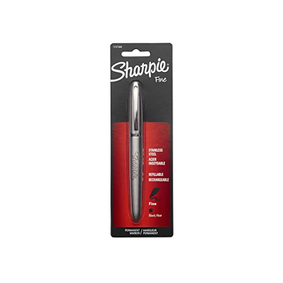 Amazon.com : Sharpie 1747388 Stainless Steel Fine Point Permanent Marker : Sharpie Stainless Steel Pen : Office Products