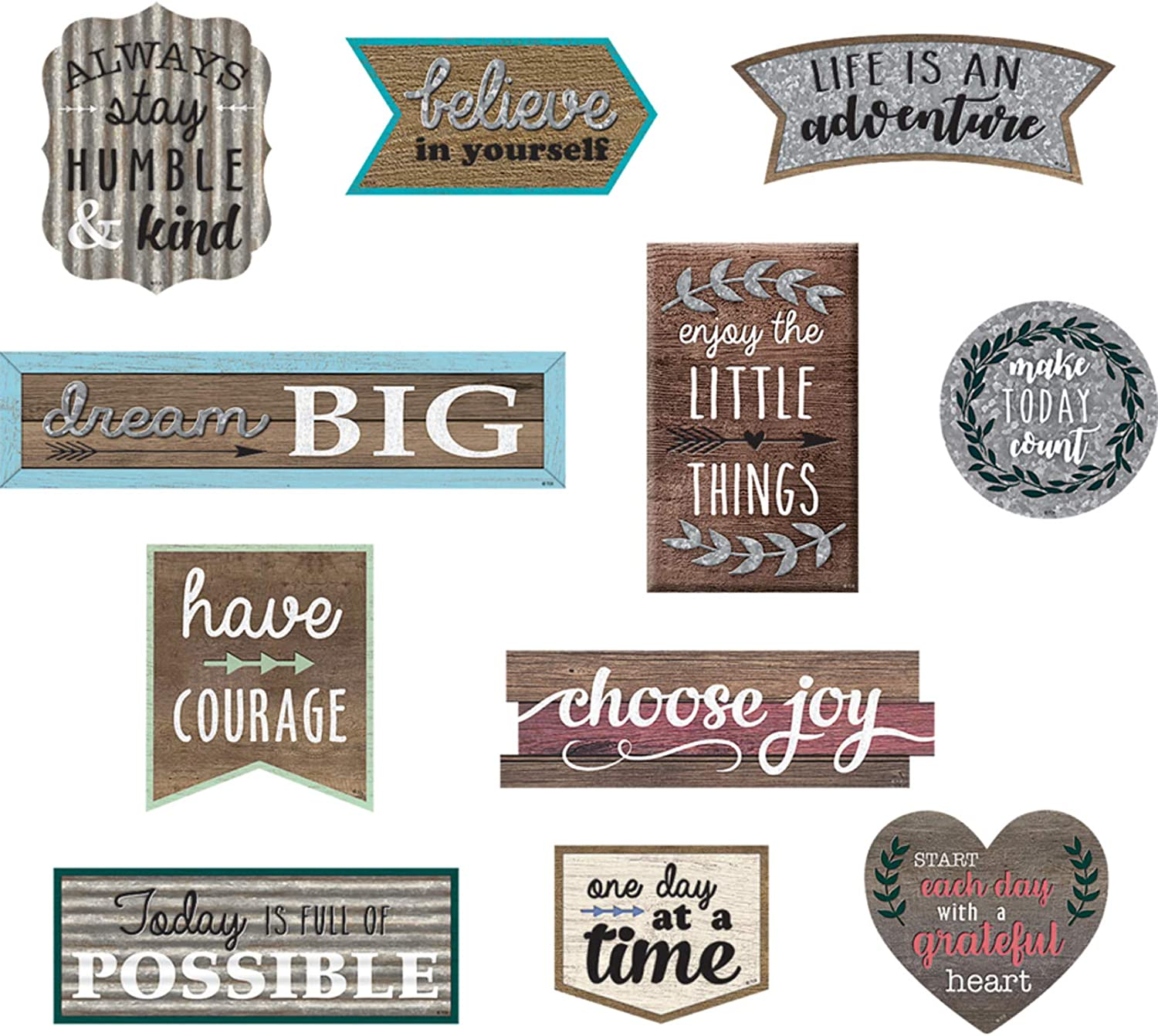 Teacher Created Resources Home Sweet Classroom Positive Sayings Clingy Thingies Accents (TCR77875)