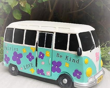 Amazon com : Dollhouse Time to Drive Retro Flower Power Van