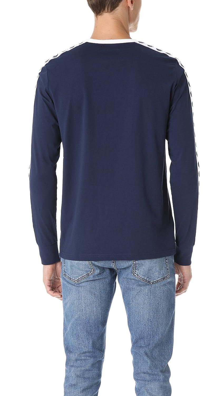 Fred Perry - Camiseta - Manga Larga - para Hombre Azul Azul ...