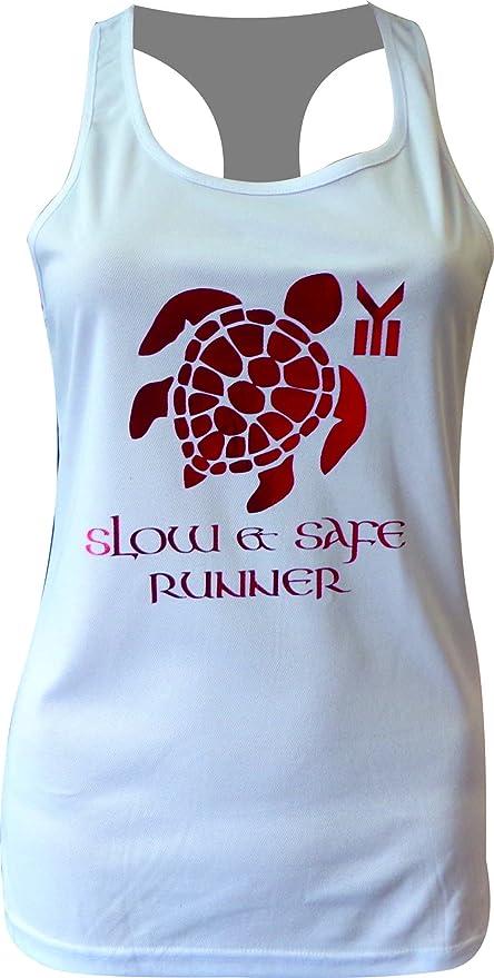 Camiseta Mujer EKEKO Tortuga, Camiseta de Tirantes, Espalda nadadora, Tipo de Deportes. Running, Crossfit, Gym, Yoga y Deportes en General