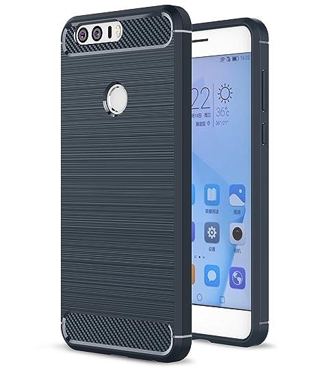 HualuBro Funda Huawei Honor 8, [Shock-Absorción] Carbon ...