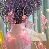 Cute Animal Unicorn Shaped LED String Lights Sparkly Fairy Lights for Christmas Festival Family Decorations