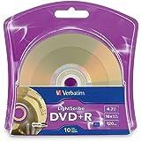 Verbatim 16x DVD+R LightScribe Blank Media, 4.7GB/120min - 10 Pack