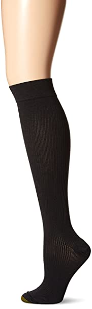 e21575b1c Gold Toe Women s Moderate Compression Ribbed Over The Calf Socks