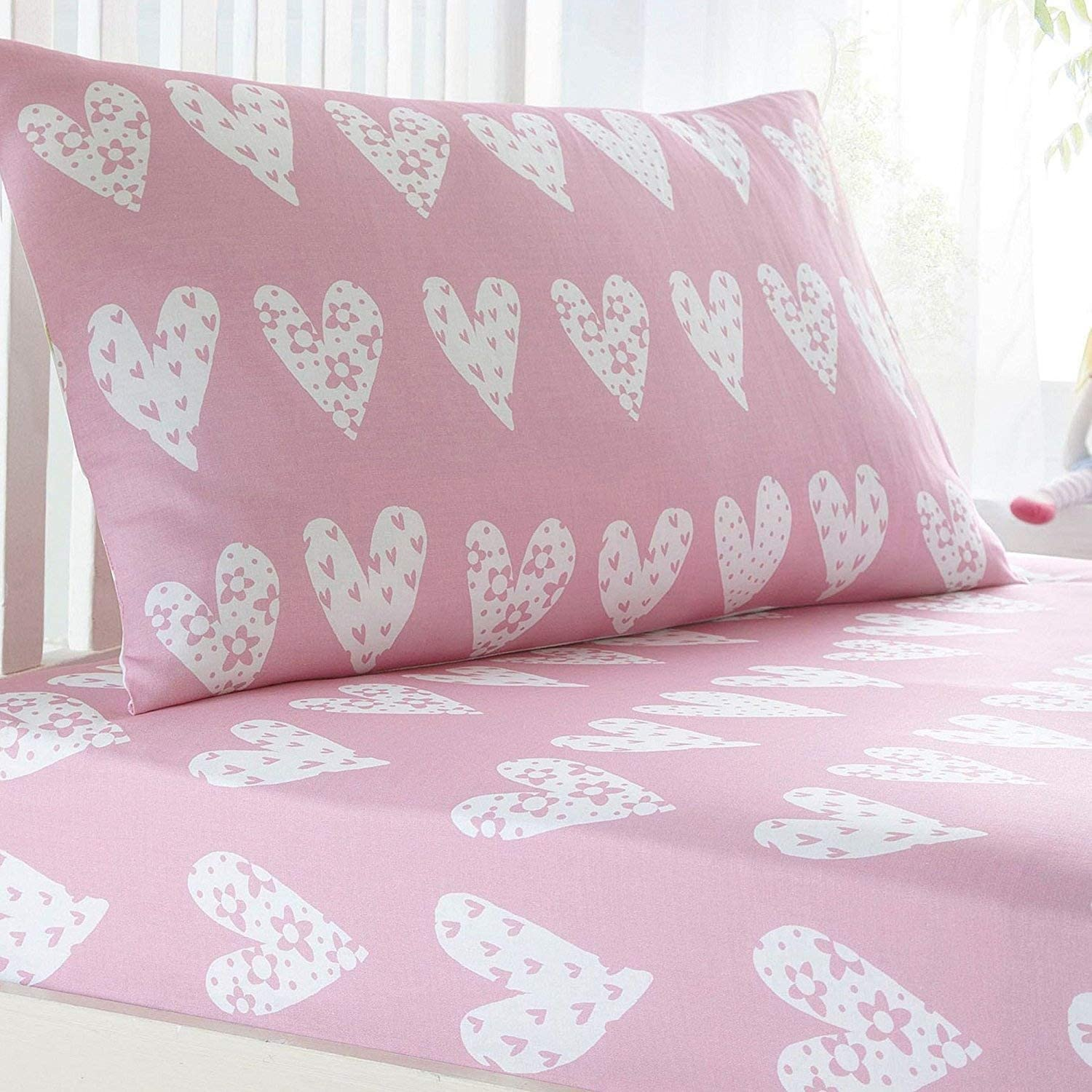 Bluezoo Kids' Pink Heart Print Fitted