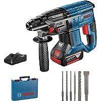 Bosch Professional 0611911009 Martello Perforatore a Batteria, 18 V, Blu, Edizione Esclusiva Amazon con Batteria e Set di Accessori