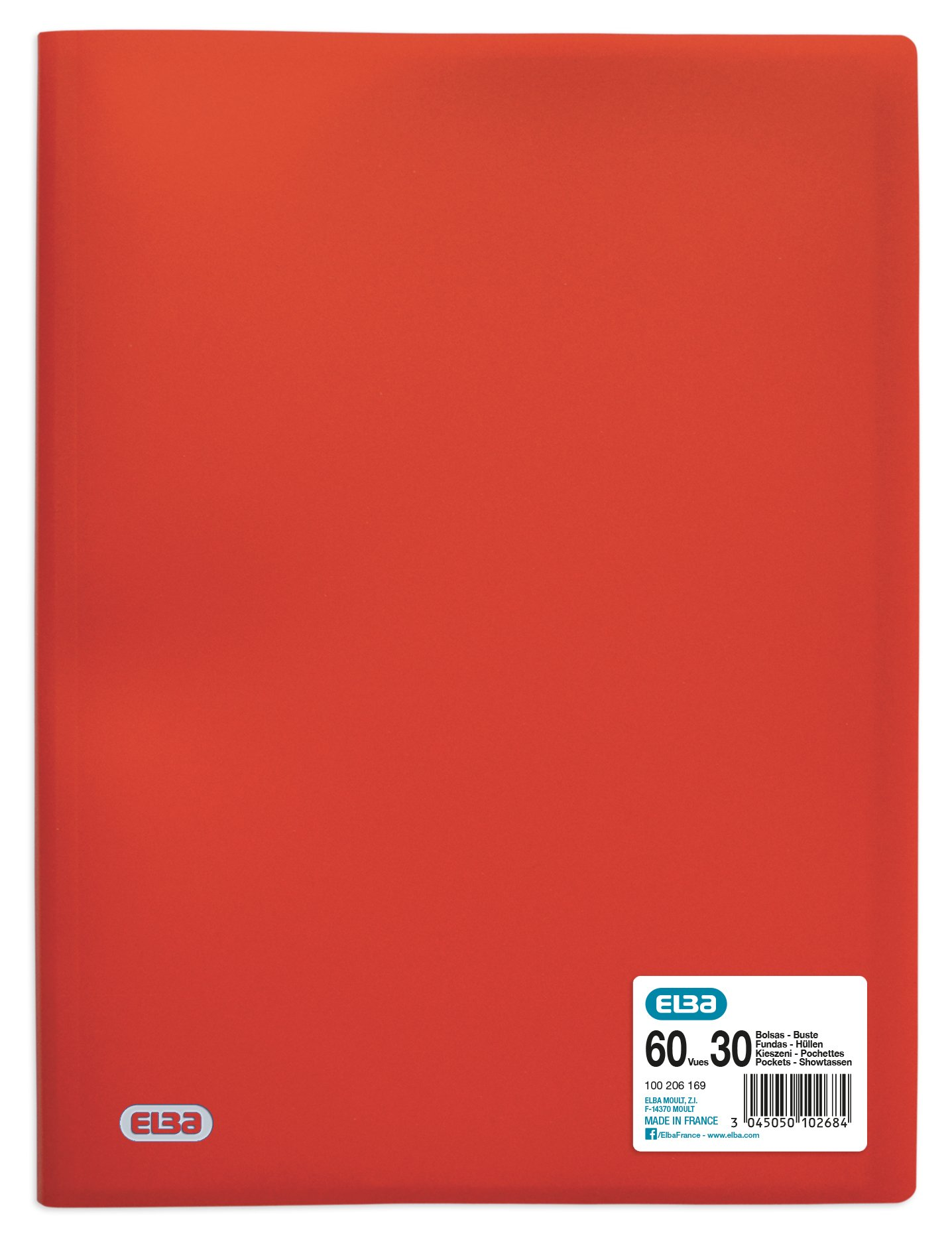 Elba A4Polypropylene 60Views 30Flexible Document Pouch Opaque Red