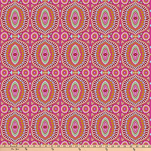 FreeSpirit Fabrics Night Music By Amy Butler 108'' Quilt Back Music-Temple Tiles- Fabric, Berry, Fabric By The Yard ()
