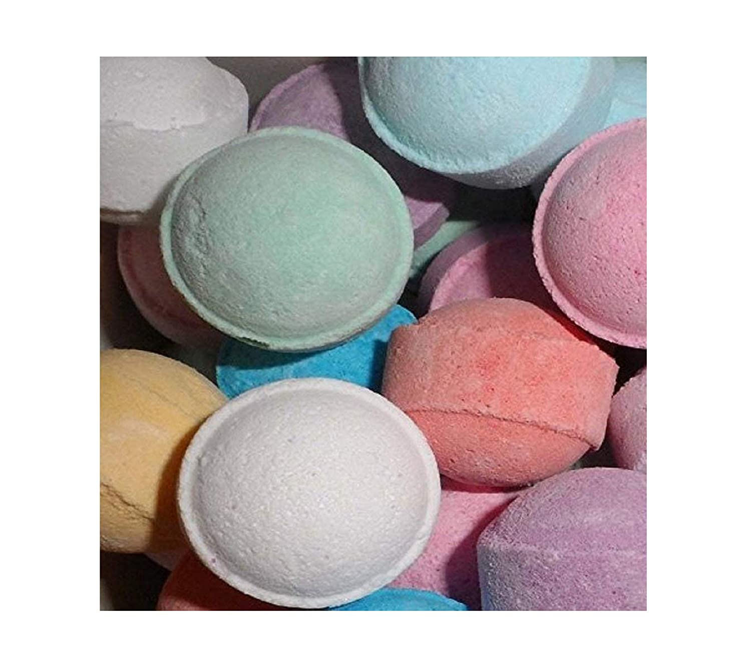 Chill Pill Mini Marble Bath Bomb - Wedding Favours Party Gifts - New Fragrances (10 x Mango) Sweet Experience