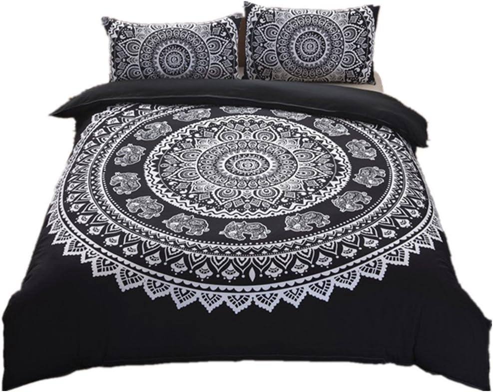 Grau und Lila 2 Teiliges Kissenbezugs Set Mandala Hippie Stil