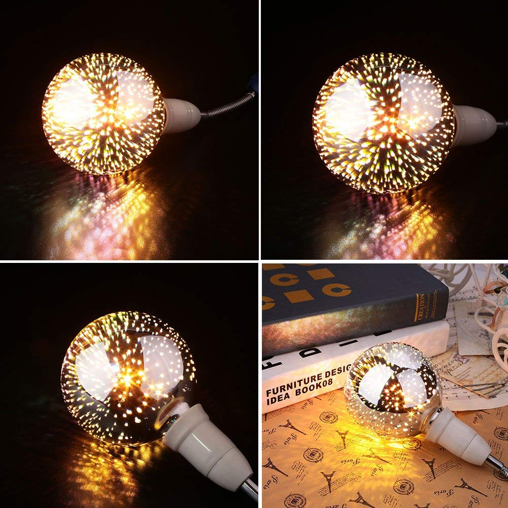 X Data 3D Star Led A60 E27 Voltage:110-230V AC Retro Filament / 4w Edison Bulb Light Valentines Day Holiday Decoration Bar Glass LED Lamp Lamparas ...