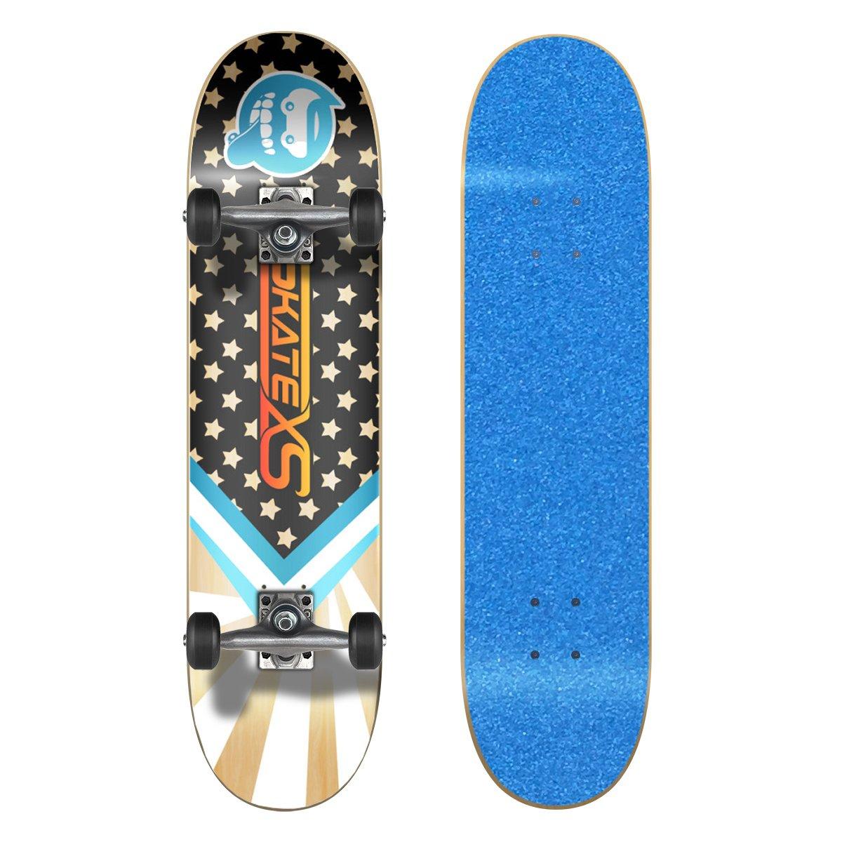 激安本物 SkateXS (Ages 初心者 スターボード ストリート 8-10)|Blue Grip スケートボード B01MSV83IU 7.25 x 29 (Ages 8-10)|Blue Grip Tape/ Black Wheels Blue Grip Tape/ Black Wheels 7.25 x 29 (Ages 8-10), キャンペーン365:e98bb5ea --- a0267596.xsph.ru