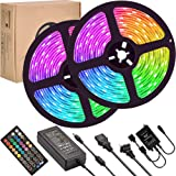 LED Strip Lights Sync to Music,UMICKOO 10M/32.8ft Flexible Strip Light SMD 5050 RGB 300 LEDs with Remote Controll, Multi…