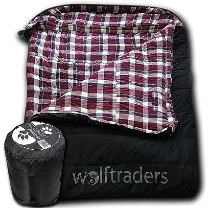 Amazon.com: Wolftraders TwoWolves - Saco de dormir de lona ...