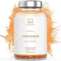 Integratore Curcuma di Turmerico [ 4230 mg ] 180 Capsule - Senza Stearato di Magnesio - Con il 95% di Estratto di Curcumina e Piperina - Un Forte Antiossidante per Supportare le Articolazioni