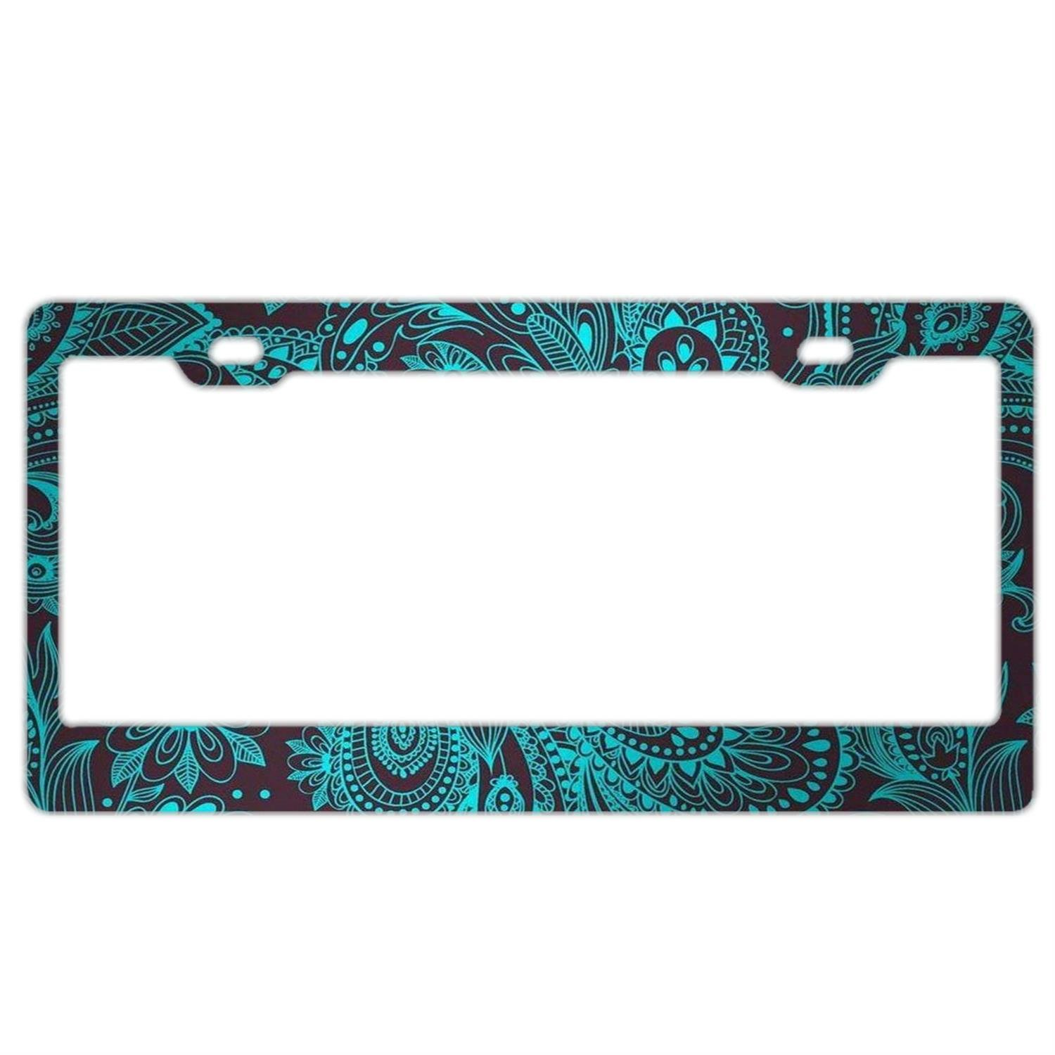 License Plate Frame for Women,Car Licenses Plate Covers Black License Tag Aluminum Metal CooLicensfhrframe