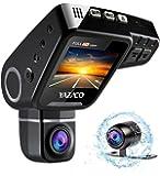 YAZACO隠しドライブレコーダードラレコ1080PフルHD 2.0インチ 170°高画質広視野角 1200万画素 前後カメラ同時記録 回転レンズ CMOSセンサー搭載 WDR機能 駐車監視 動体検知 常時録画 コンデンサ内蔵 日本語説明書付属