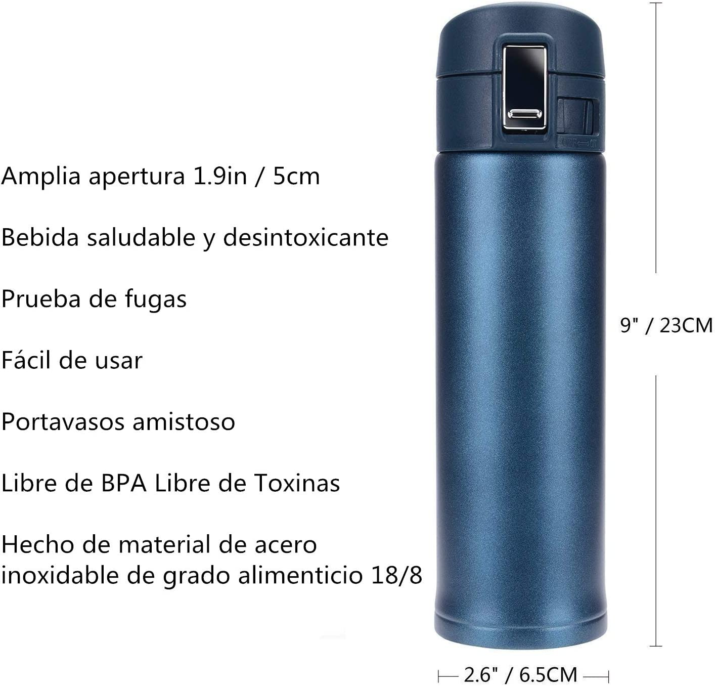 AYUTOY 500ml Botella Aislada Al Vacío Vacuum Flask termo de doble ...