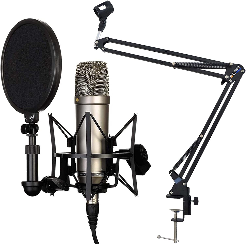 keepdrum NB35 Blau Gelenkarm Stativ Blue Rode NT1-A Set Kondensator Mikrofon
