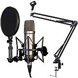 Rode NT1-A Set Kondensator Mikrofon + KEEPDRUM NB35 Gelenkarm Tisch-Stativ