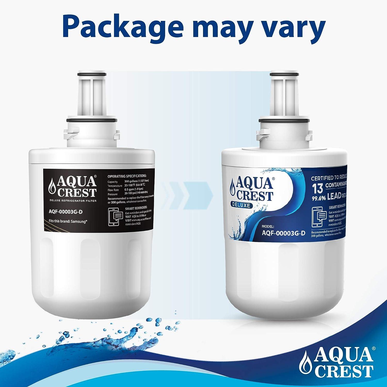 Compatible with Samsung Aqua Pure Plus DA29-00003G DA29-00003B DA29-00003A HAFIN2//EXP HAFCU1//XAA DA97-06317A WF289 AQUACREST DA29-00003G NSF 401,53/&42 Fridge Water Filter