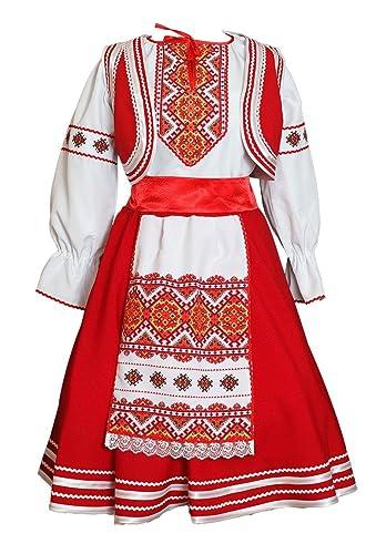 4ae7c20c9 Amazon.com: Slavic costume women Belarus dress folk dance wear: Handmade