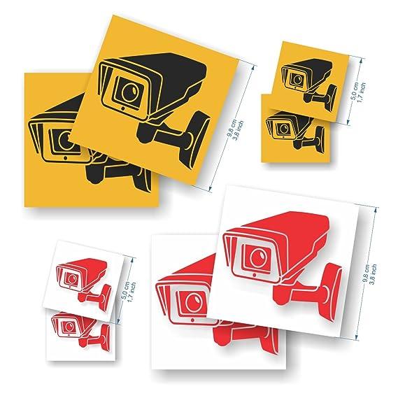 Pack de 8 Pegatinas Cámara de vigilancia - Pegatinas de ...