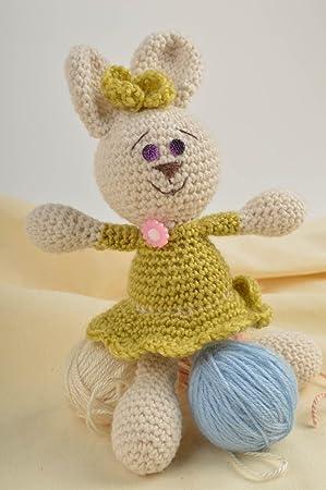 Juguete artesanal de hilos de lana regalo original peluche para ninos Coneja