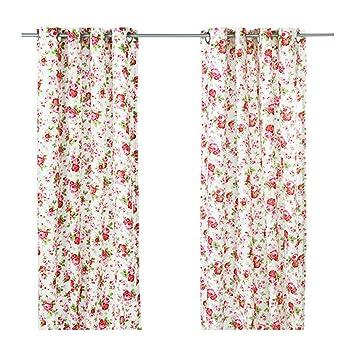 Ikea - Rosali - Paire De Rideaux Blanc - 145X300 Cm: Amazon.fr ...