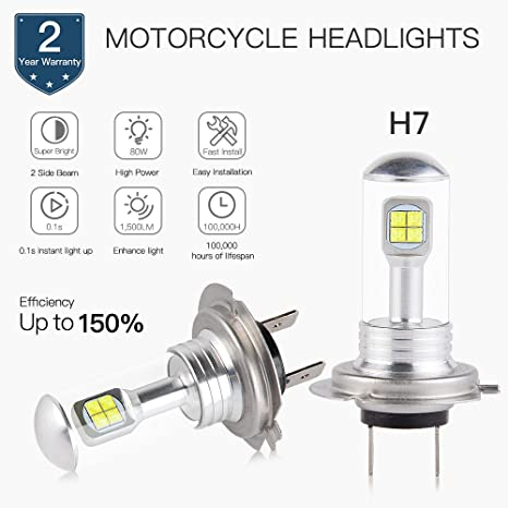 Headlight Lamp Ninja Led Kawasaki For AjaxStore H7 Bulbs 3T1JulFKc