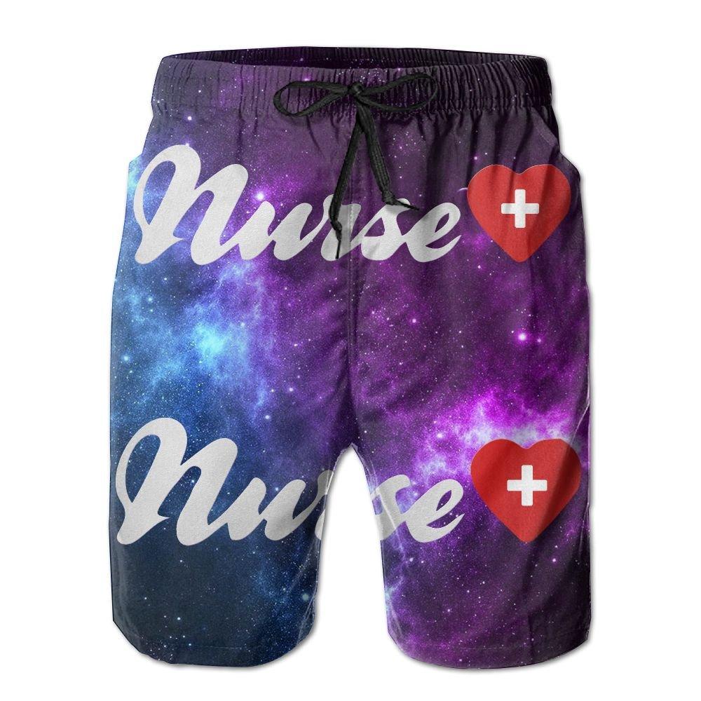 Love Nurse Men's Summer Beach ShortsM by MITUP (Image #1)
