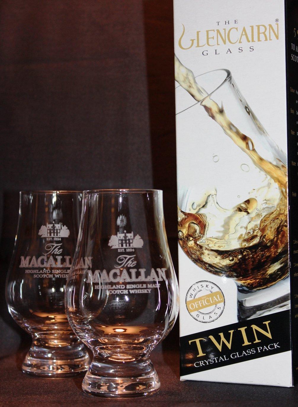 MACALLAN TWIN PACK GLENCAIRN SCOTCH MALT WHISKY TASTING GLASSES