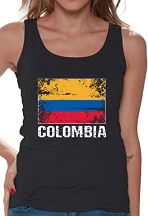 3048ab1bc9a Amazon.com: Awkward Styles Women's Colombia Tank Tops Colombia Flag Tank  Colombian Gifts: Clothing