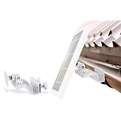 Wasserstein Gutter Mount Compatible with Ring, Arlo, Reolink Cams & Compatible Solar Panels (White): Garden & Outdoor