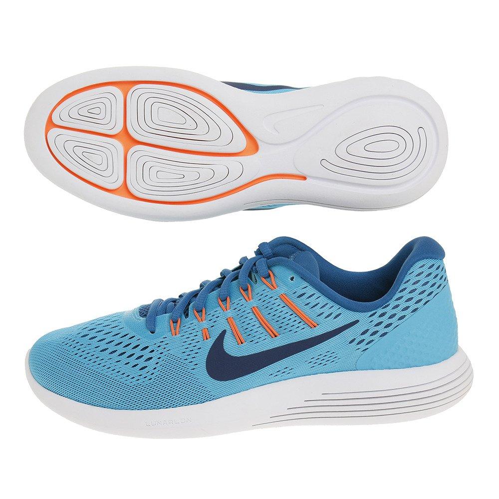 Nike Mens Lunarglide 8, Black / White - Anthracite B01JZYN8FU 7.5 D(M) US|Blue