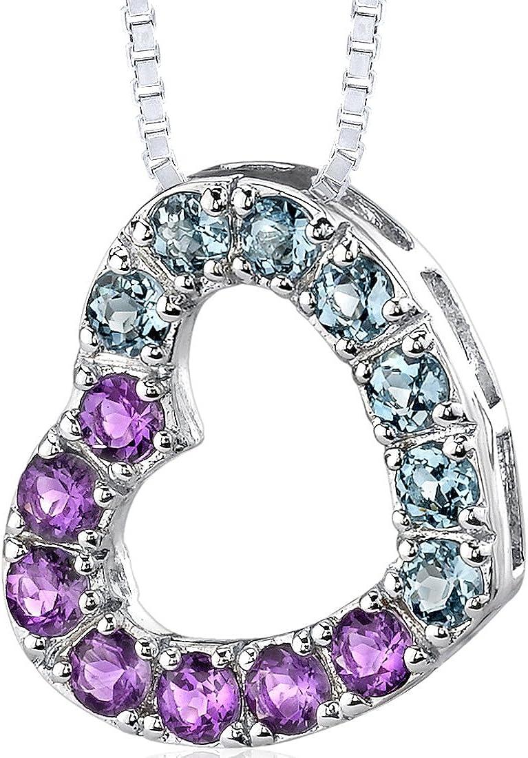 gemstone pendant Multi stones Pendant,Semi-Precious Stone Pendant 925 Sterling Silver Silver Pendant elegant Finished Stones pendant
