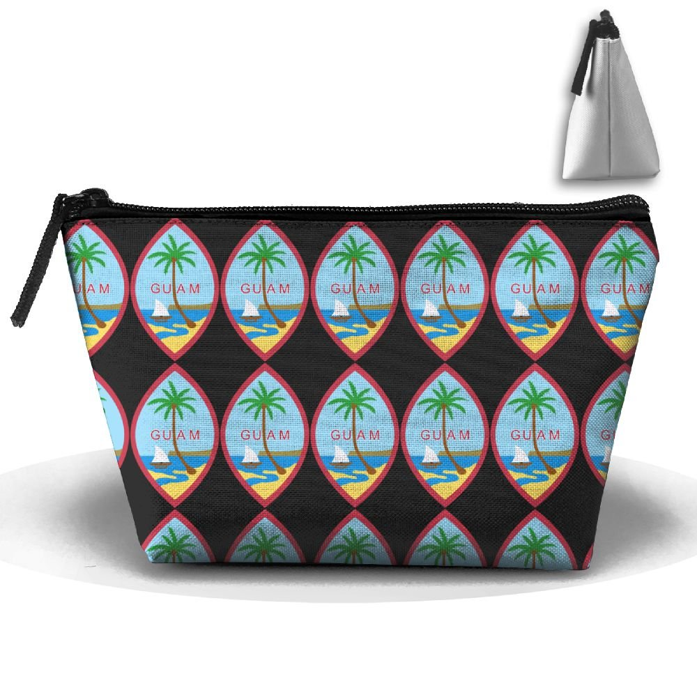 LogicBB Coat Of Arms Of Guam Print Makeup Bag Travel Cosmetic Pouch Storage Brush Holder Toiletries Bag Waterproof Jewelry Organizer With Zipper For Women&Girls by LogicBB (Image #1)